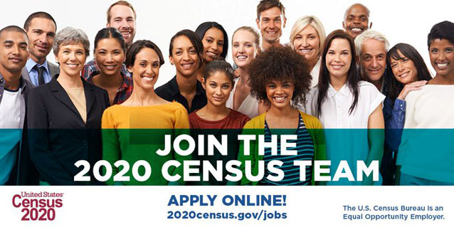 Click here to learn about 2020 Census jobs